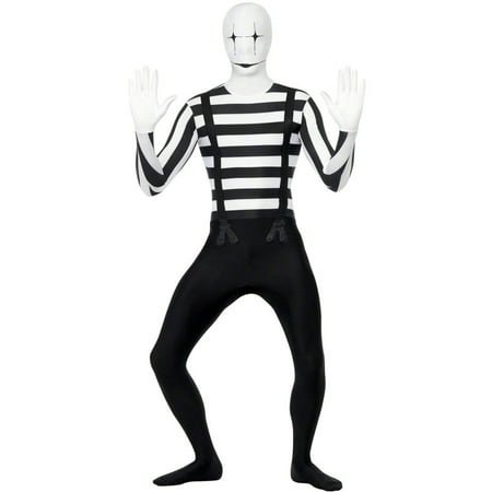Mime Second Skin Adult Costume](Mime Mask)