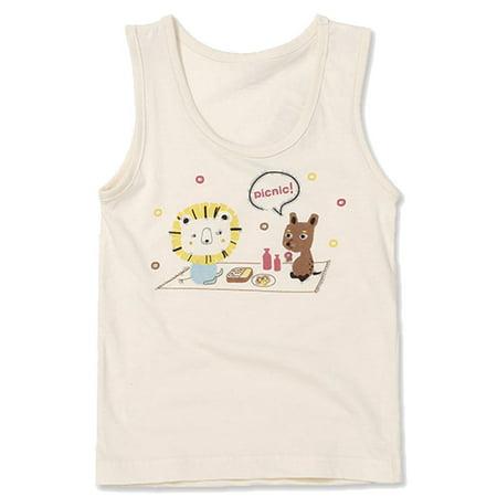 - Toddler Boys Undershirt Tank Top Premium 100% Organic Cotton 3T - 7