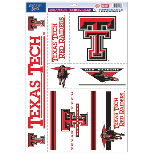 Texas Tech Red Raiders Official NCAA 11 inch x 17 inch  Car Window Cling Decal by Wincraft