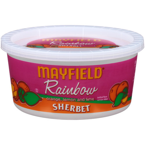 Mayfield Rainbow Sherbet, 1 qt