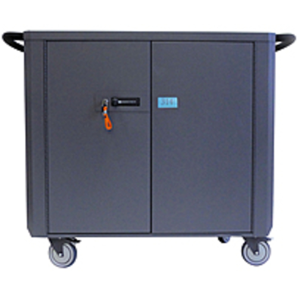 """Refurbished Datamation Systems SafeHarbor2 DS-SHC2-36 Laptop Cart - 5 Casters - Steel - 51"""" Width x 22.5"""" Depth x 39"""" Height"""