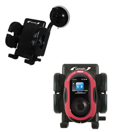 Gomadic Brand Flexible Car Auto Windshield Holder Mount designed for the RCA S2202 S2204 JET - Gooseneck Suction Cup Style Cradle