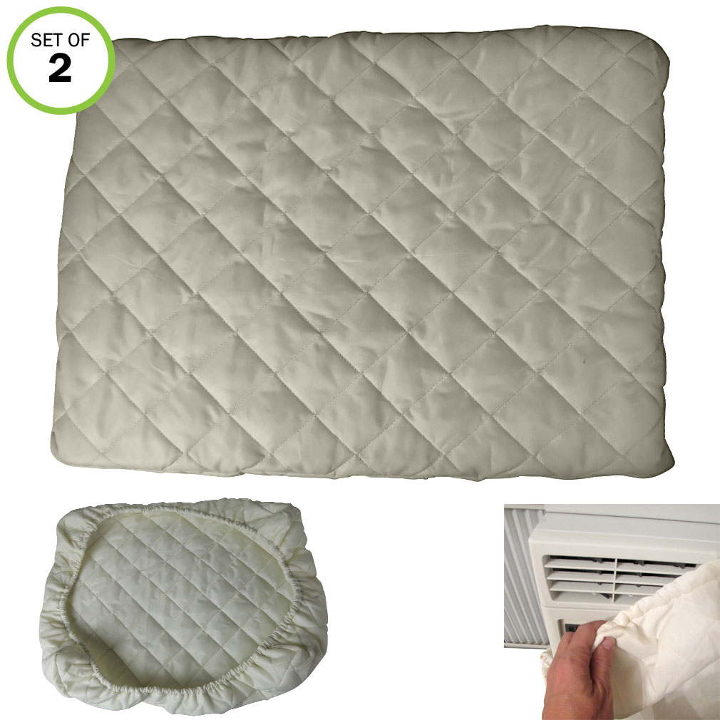 Evelots Air Conditioner Cover-A/C-Window-Indoor-Deluxe-Double Insulation-Set/2