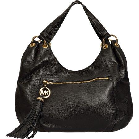 29719067bea2 Michael Kors - Michael Kors Black Charm Tassel Leather Tote Handbag -  Walmart.com