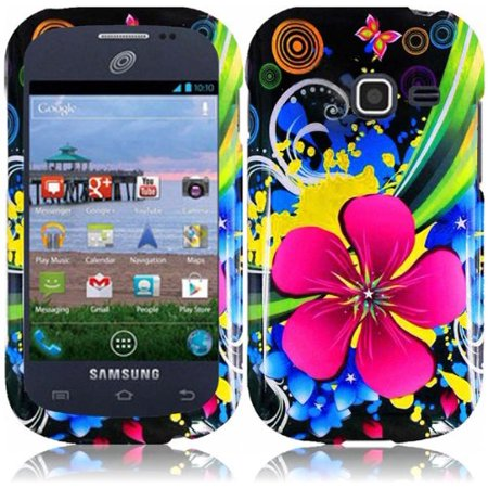Design Crystal Hard Case for Samsung Galaxy Centura S738C - Eternal Flower