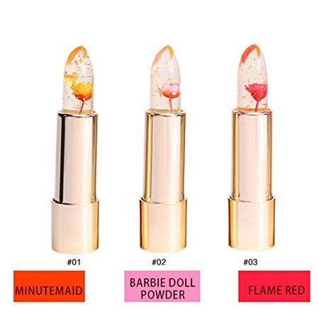 Original kailijumei flower jelly lipstick set of 3 color Temperature Change Moisturizer flower lip stick - Walmart.com