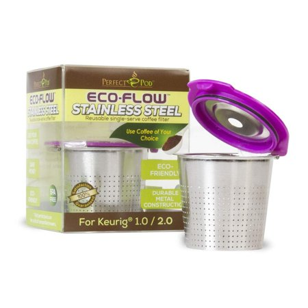 Perfect Pod ECO-Flow Stainless Steel Reusable Coffee Filter K Cup for Keurig Pod (Reusable K Cup Keurig K45)