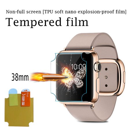 Watch Protective Film Sensitive Touching Waterproof Comfortable Watch Tempered Film Protector for Apple iWatch 38MM - image 6 de 7