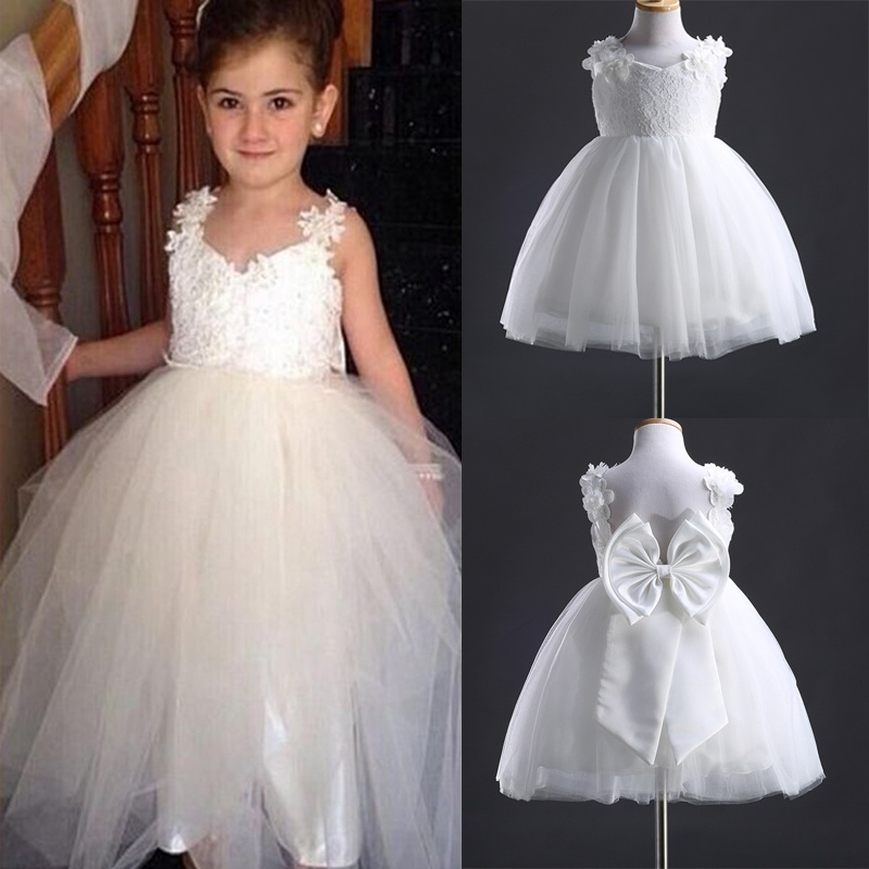 Girls Kids Flower Bridesmaid Party Princess Prom Wedding Christening lZ