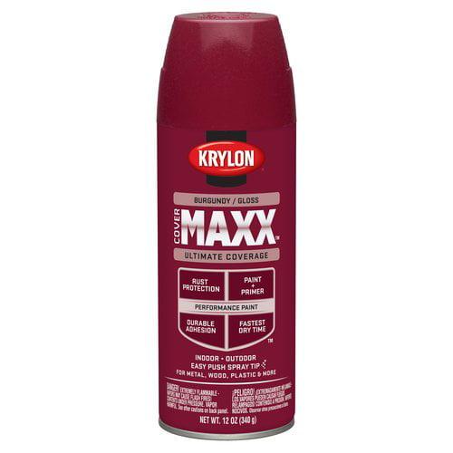 Krylon Burgundy Gloss CoverMaxx