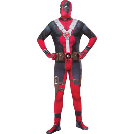 Deadpool Costume For Women (Mens Classic Deadpool 2Nd Skin Halloween)