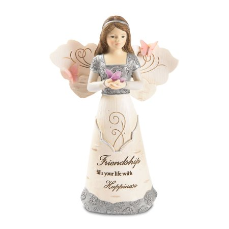 Pavilion Gift Company - Friendship Angel Holding Butterfly- 5.5 Inch