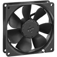 EBM PAPST 3414NGH Axial Fan, 3400N Series, 24 VDC, 92 mm, 25 mm, 55.3 cu.ft/min, 94 m³/h