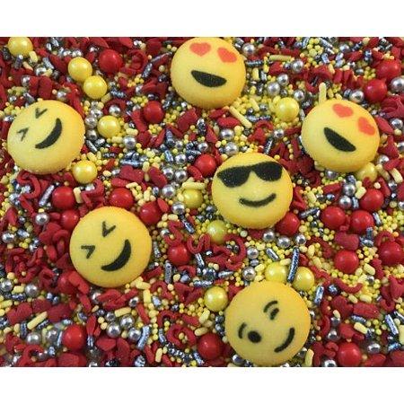 Emoji Sprinkle Me Pretty 6 Oz Decorettes Confetti Birthday Party Favors Sugar Decorations Cupcake Social Media