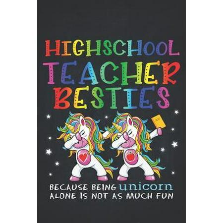 Unicorn Teacher: High School Teacher Besties Teacher's Day Best Friend Perpetual Calendar Monthly Weekly Planner Organizer Magical dabb (Highschool Of The Dead Best Friends)