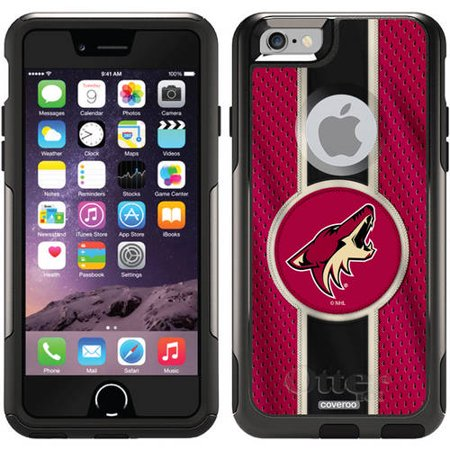 Phoenix Coyotes Jersey Stripe Design on OtterBox Commuter Series Case for Apple iPhone 6 by