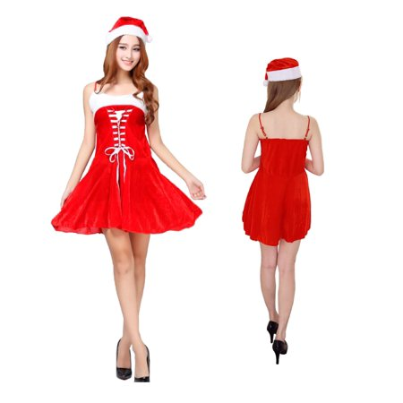 Christmas Carol Costumes (Women's Sexy Santa Christmas Dress)