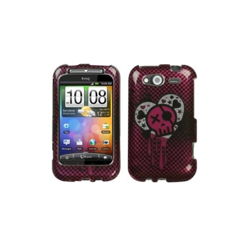Insten I Heart Rock (2D Silver) Sparkle Phone Case for HTC: Wildfire S (GSM), Wildfire S (CDMA)