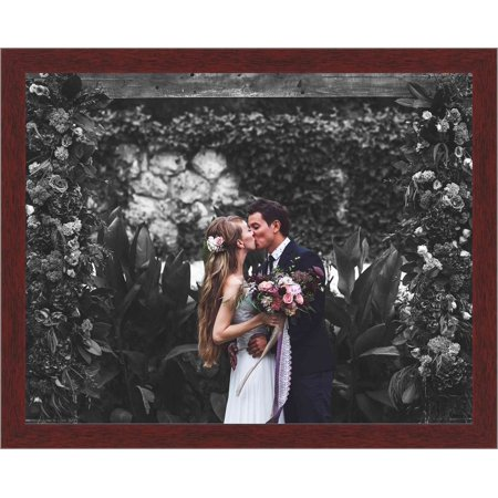 40.5 x 33 cm (16x13 inches) Classic Brown Wood Picture Frame with UV Acrylic & Foam Board Back, & Hardware - image 1 de 2