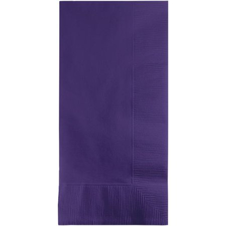 Touch of Color Dinner Napkins, 2-Ply, 1/8 Fold, Purple, 50 Ct (Bow Tie Napkin Fold)