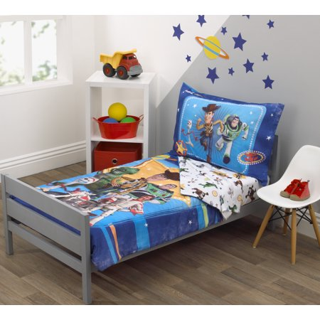Disney Toy Story Team Toy 4 Piece Toddler Bedding Set