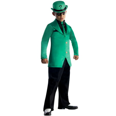 DC Comics Gotham Super Villains Riddler Costume for Kids - Dc Villain Halloween Costumes