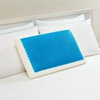 Comfort Revolution Originals Blue Bubble Gel + Memory Foam Cooling Bed Pillow, Standard Size