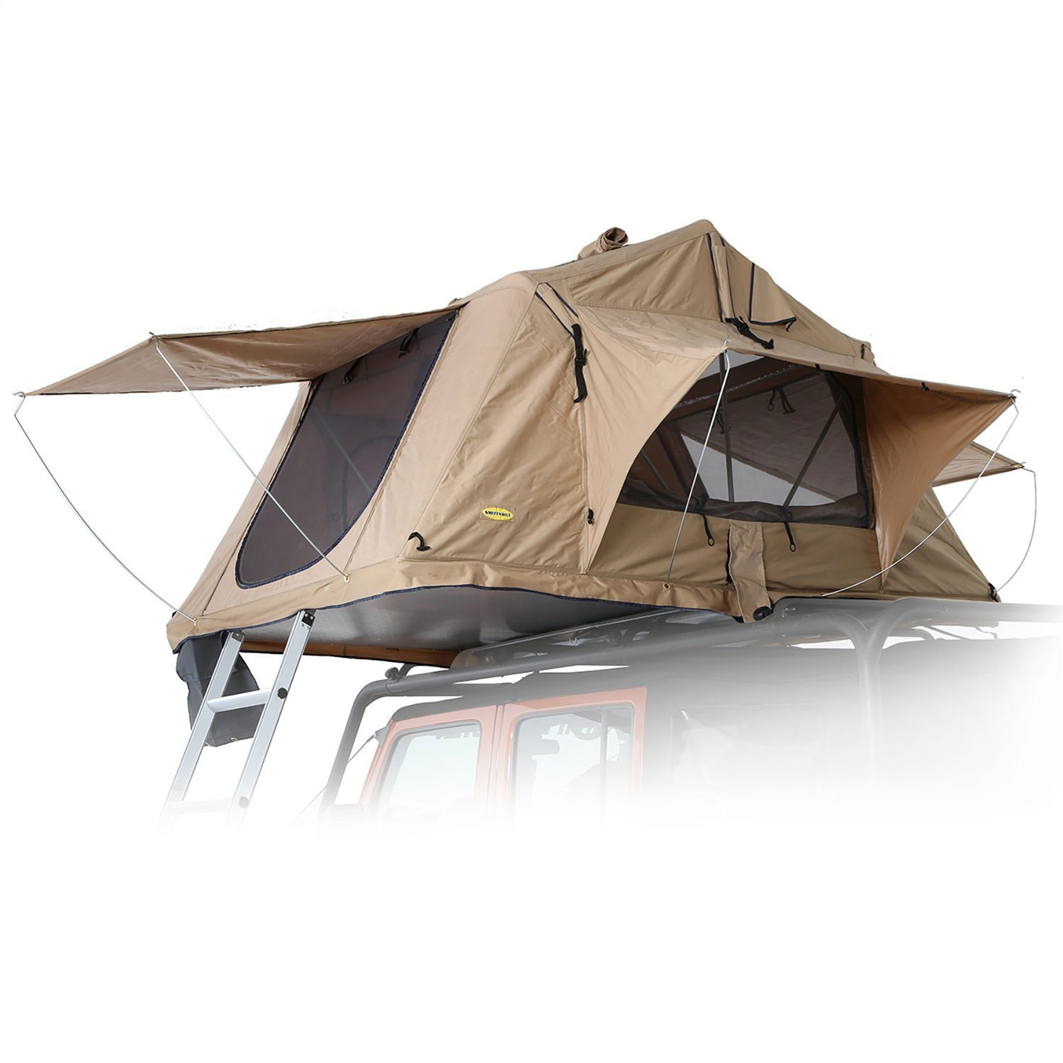 Smittybilt 2783 Overlander Roof Top Camping Folded Tent with Ladder, Coyote Tan