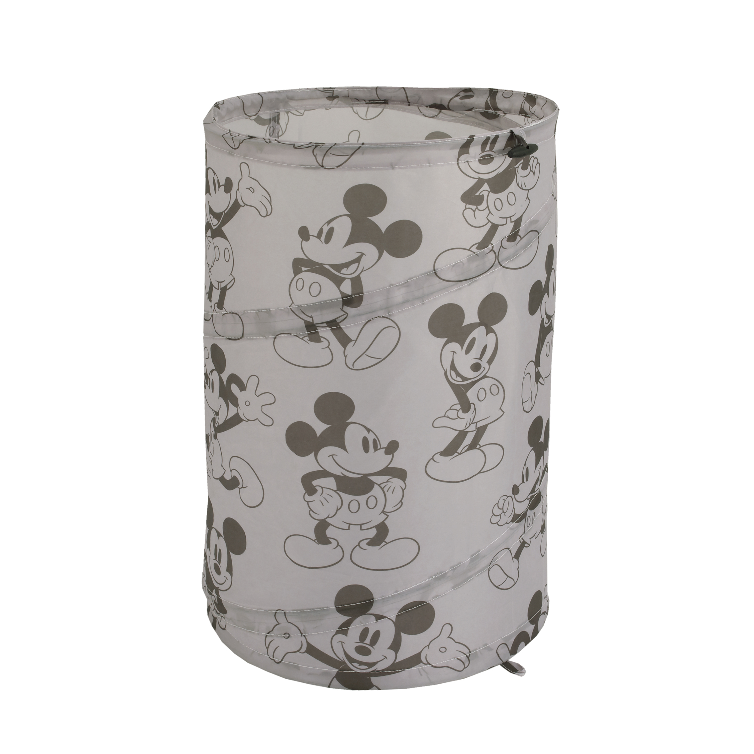 Disney Mickey Mouse Round Pop-Up Hamper, Grey & Black