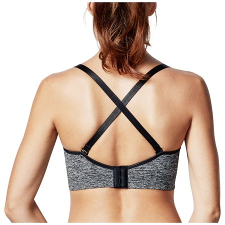 8a0b582c235 Bravado Body Silk Seamless Yoga Nursing Bra Medium - Charcoal Heather -  image 2 of 5 ...