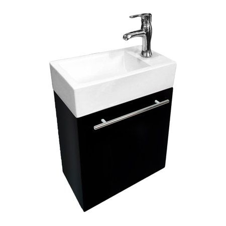 Renovator 39 s supply small wall mount bathroom vanity - Walmart bathroom vanities with sink ...