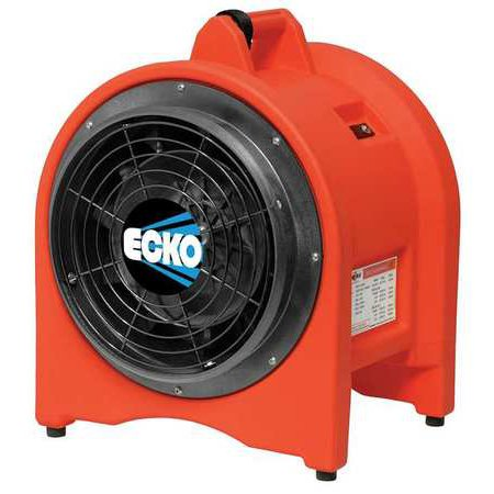 ECKO K30 Confined Space Fan, 1/3 HP, Orange Confined Space Ventilation Equipment