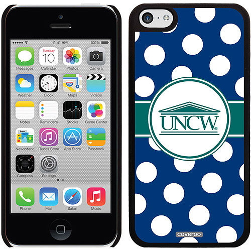 UNCW Polka Dots Design on iPhone 5c Thinshield Snap-On Case by Coveroo