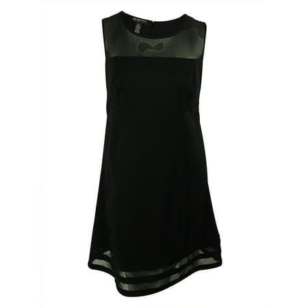 INC International Concepts Women's Sleeveless Mesh Insert Dress