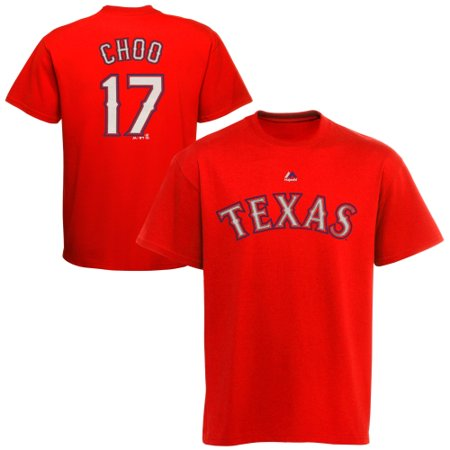 Shin Soo Choo Texas Rangers Majestic Youth Player Name & Number T-Shirt - Red ()