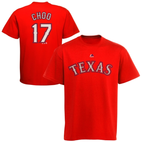Shin Soo Choo Texas Rangers Majestic Youth Player Name & Number T-Shirt - Red
