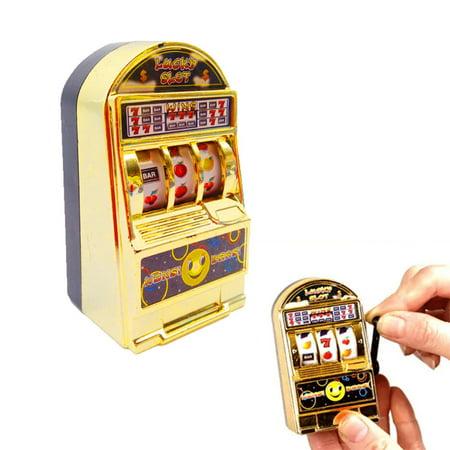 - Mosunx Mini Lucky Jackpot Slot Machine Fun Gift Fruit Slot Machine Dice Cards Games