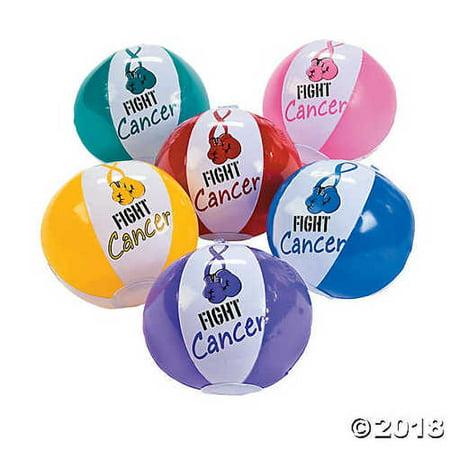 Fight Cancer Mini Beach Balls