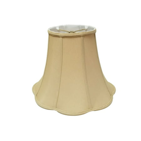 "Royal Designs 12"" Bottom Outside Scallop Bell Lamp Shade Antique Gold"