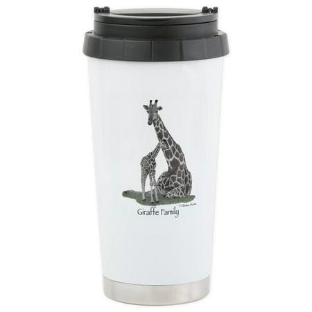 Travel Giraffe (CafePress - Giraffe Family Stainless Steel Travel Mug - Stainless Steel Travel Mug, Insulated 16 oz. Coffee Tumbler)