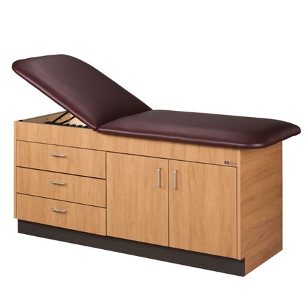 Swell Clinton Adjustable Back Wooden Treatment Exam Table W Cabinets 3 Drawers Download Free Architecture Designs Licukmadebymaigaardcom