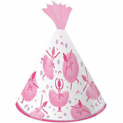 Creative Converting Tutu Much Fun Party Hats, 8pk