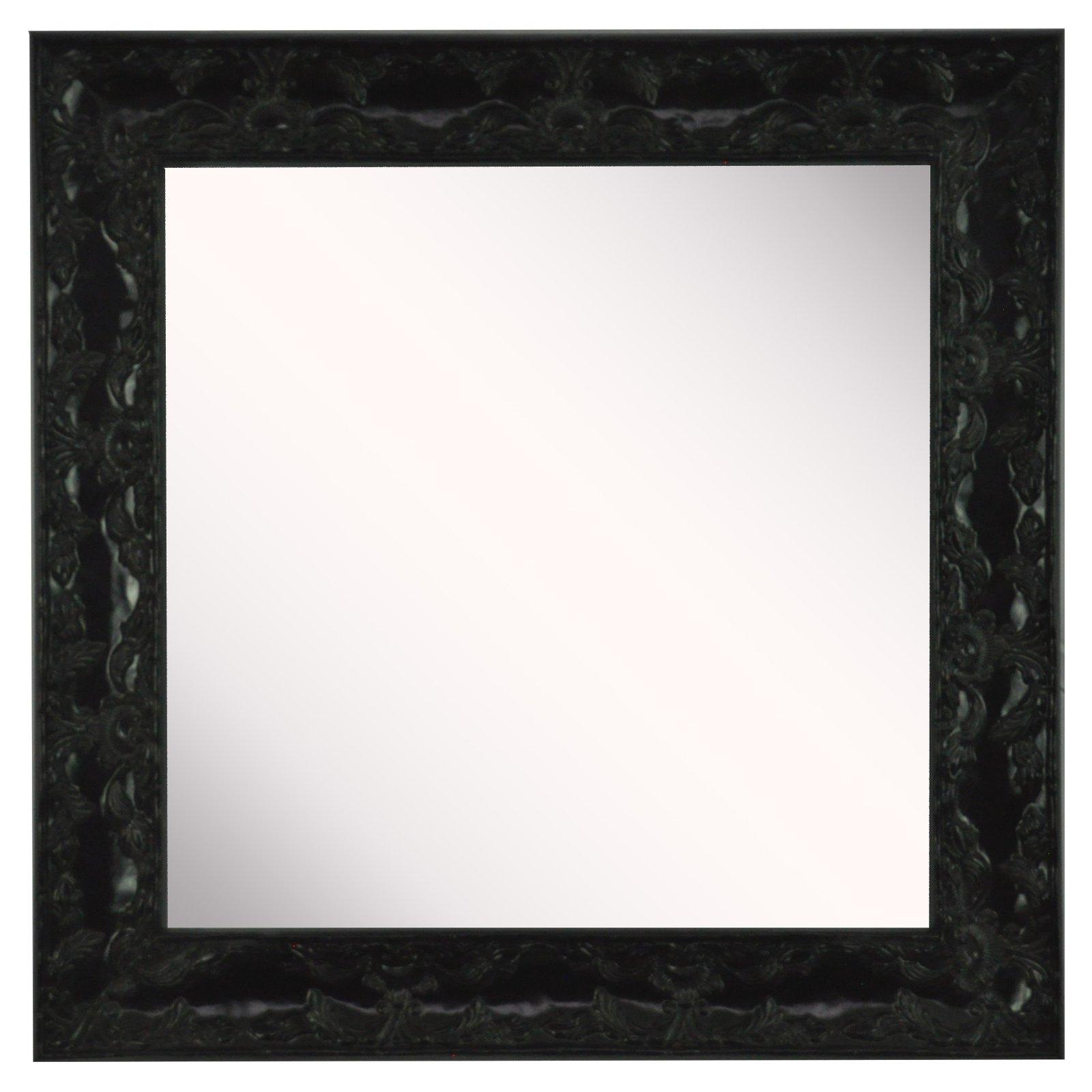 American Made Rayne Endicott Square Wall Mirror - Black - Set of 4