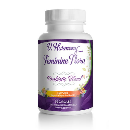 Vaginal Health Probiotic Blend for Women | 50 capsules | pH Balance for Women | for Vaginal Care + Digestive Health &