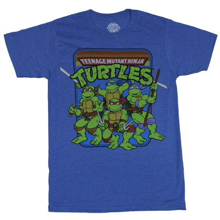 Teenage Mutant Ninja Turtles Mens T-Shirt -  Group Under Multicolor Logo