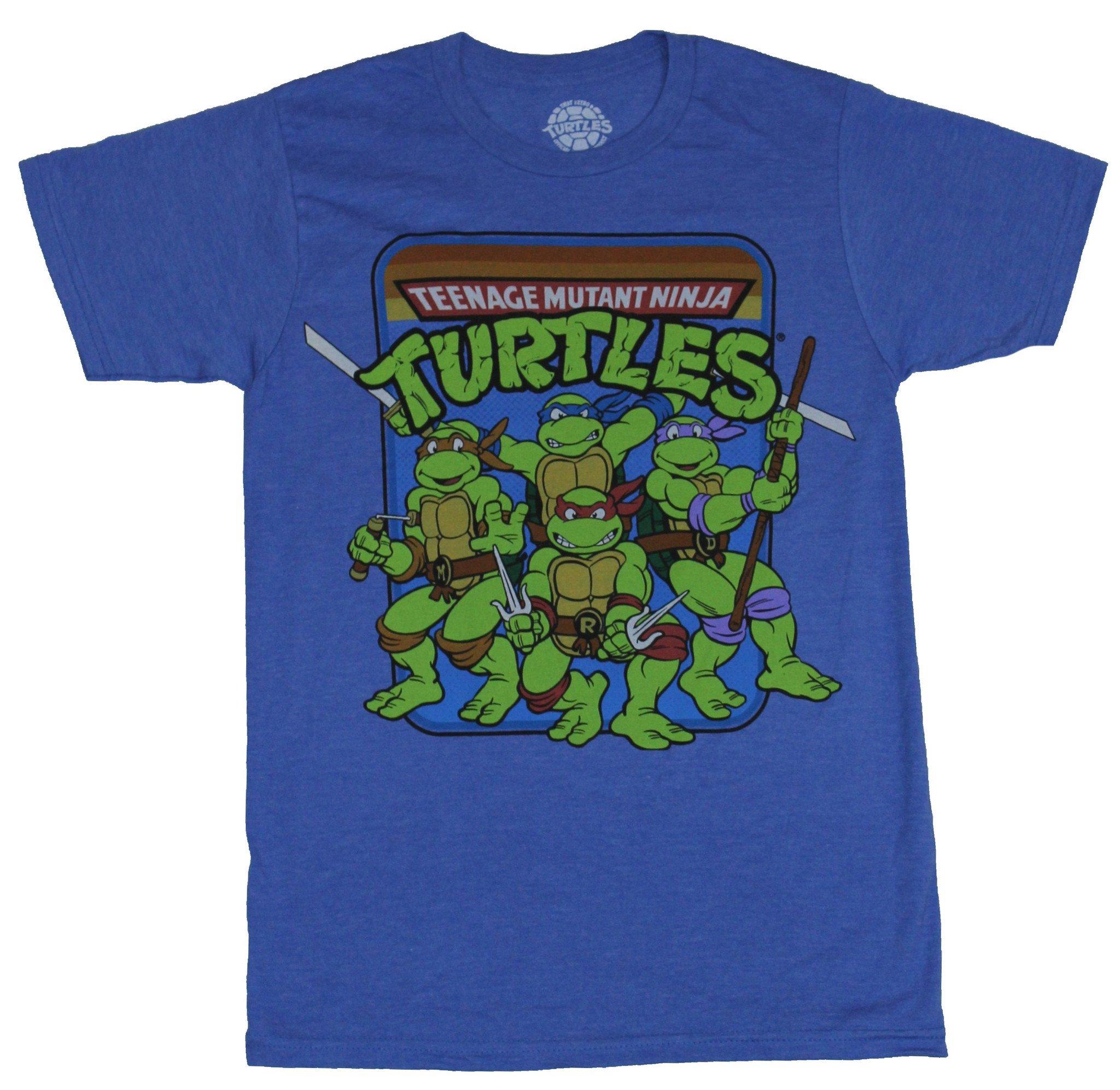 Teenage Mutant Ninja Turtles Mens T-Shirt -  Group Under Multicolor Logo