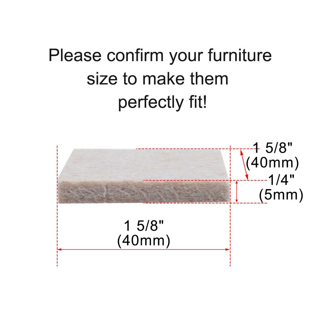 "Furniture Pads Square 1 5/8"" Self-stick for Furniture Floor Protector 12pcs - image 4 de 7"