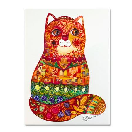 Trademark Fine Art 'Judaica Folk Cat' Canvas Art by Oxana Ziaka