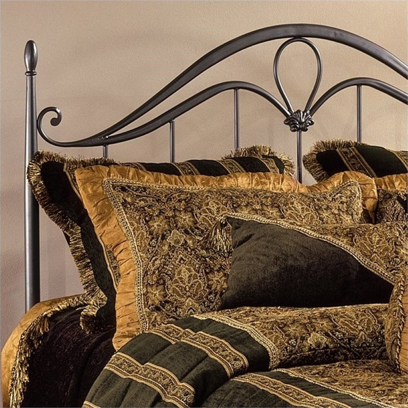 Bowery Hill Full Queen Metal Spindle Headboard with Frame in Bronze