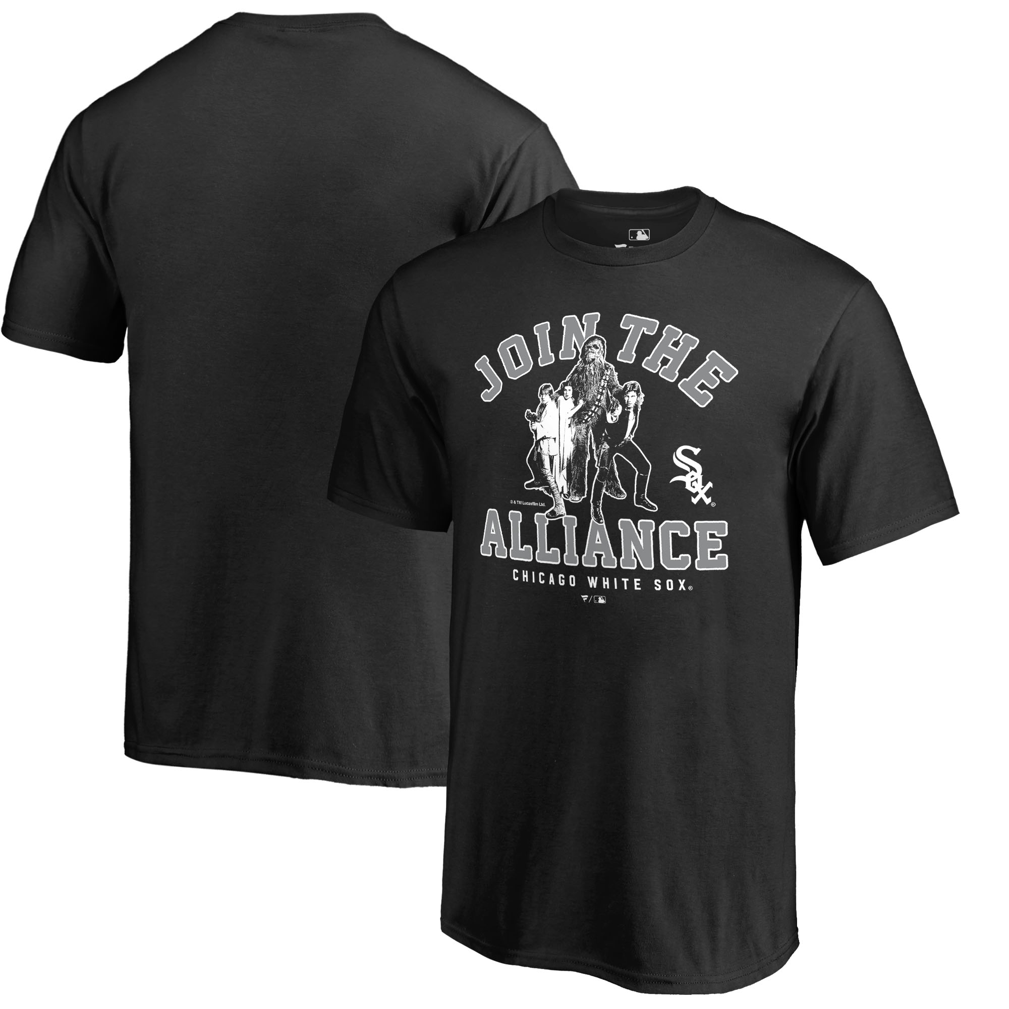 Chicago White Sox Fanatics Branded Youth MLB Star Wars Join The Alliance T-Shirt - Black
